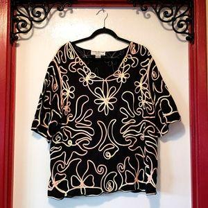 Lauren Michelle Woman 3X blouse